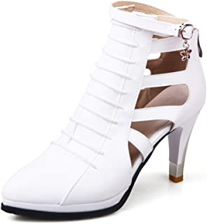701c5d73071 Susanny Women Trendy Buckle Ankle Bootie Classic Stiletto Heels Cut-Out  Sexy Wedding Party Dress