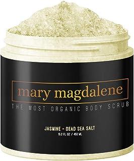 Mary Magdalene Jasmine & Dead Sea Salt Body Scrub - 100% Natural, Hydrating, Sweet Smelling & Organic – 15.2 Fl Oz Premium...