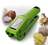 Simposh Garlic Press   Easy Clean Garlic Press Mincer Crusher with Removable Stainless Steel Press Plate   Efficient No Peel Garlic Press   Patented Easy Squeeze Mechanism   Color Green