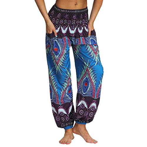 Allence Damen Haremshose Pumphose Sommerhose großes Größe 34/36 bis Größe 48/50 verfügbar Leichte Yoga Haremshose