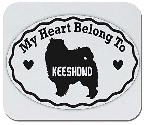 Makoroni - My Heart Belongs to Keeshond - Non-Slip Rubber Gaming Office Mousepad, t60