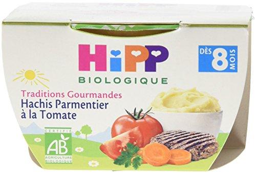 Hipp Biologique Traditions Gourmandes Hachis Parmentier à la Tomate dès 8 mois - 8 bols de 190 g
