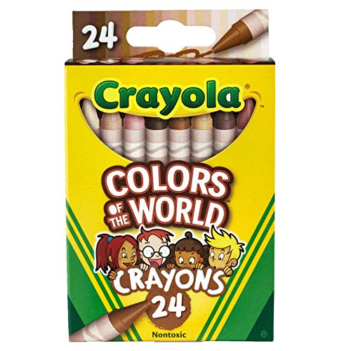 Crayola Crayons 24 Count, Colors of The World, Multicultural Crayons, 24 New Crayon Colors