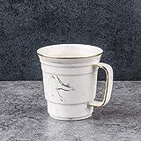 400ml European Bone China Taza De Café Esquema Oro Creativo Pintura Tinta Taza De Leche Tarde Té De Cerámica Set De Bebidas Office Drinkware C