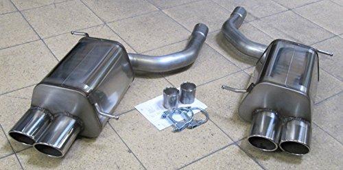 Mercedes SLK R171Duplex silenziatore in acciaio inox scarico sportivo con sigillo TÜV in 4X ovale di Super Sport