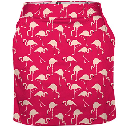 Royal & Awesome Pink Birdie Breeks Women's Golf Skort Skirt - 08R