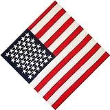GUMEI 50x50CM Sciarpa Fazzoletto da Taschino Sportivo in Cotone Unisex Bandiera Americana Strisce Stampa a Stella Fascia per Capelli Bandana Cinturino per Capelli Hip-Hop
