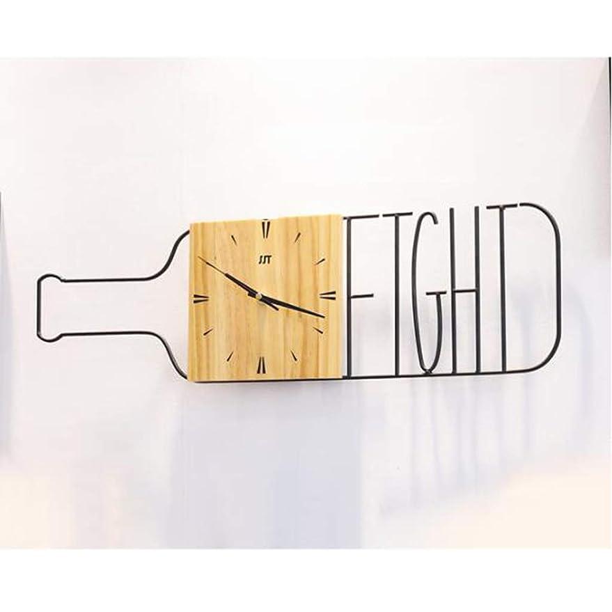 聖書貫通する可能にするウォールクロックワインボトルクリエイティブクロックファッションパーソナリティウォールクロックシンプルな時計 SHWSM