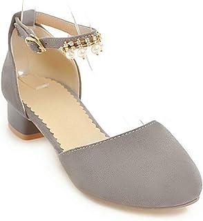 BalaMasa Womens ASL06054 Pu Block Heels