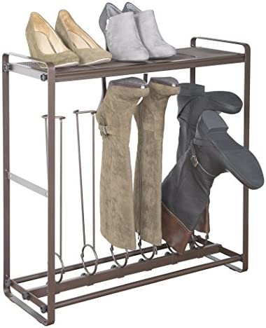 Richards Homewares 6 Pairs Boot Rack Organizer Durable Steel Bronze Finish Hold up to 3 Tall product image