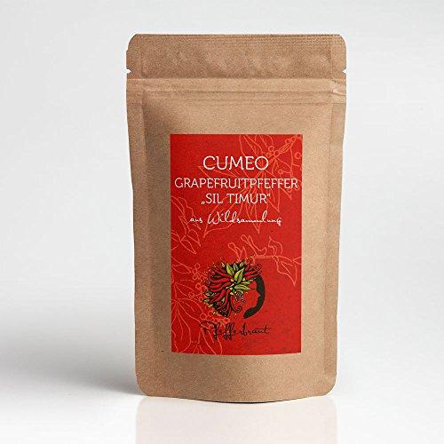 Pfefferbraut Cumeo Pfeffer Grapefruitpfeffer aus Wildsammlung 50g in der Aromatüte Gourmetpfeffer Rarität