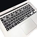 SANFORIN Silicone Keyboard Cover with Pattern & Big Letter for MacBook Pro 13/15 /17 Inch (with/Without Retina Display), Magic Keyboard and MacBook Air 13 Inch A1466/A1369,Cute Letters