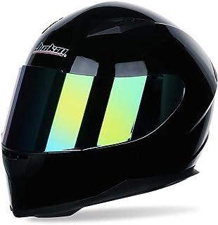 Männer Frauen Universal Full Face Motorradhelm Winter Thermische Antifogging Motorradhelm, Farbe Beschichtet Sicherheit Off Road Helme 53 62 cm…
