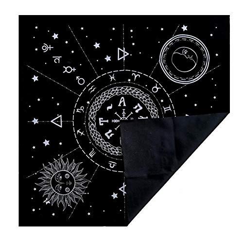 WXGY Tarot-Tischdecke, Tarot-Tischdecke, 12 Sternbilder, Astrologie, Tarot-Wahrsagen, Karte für Enthusiasten, Psychologische Ratgeber Magier