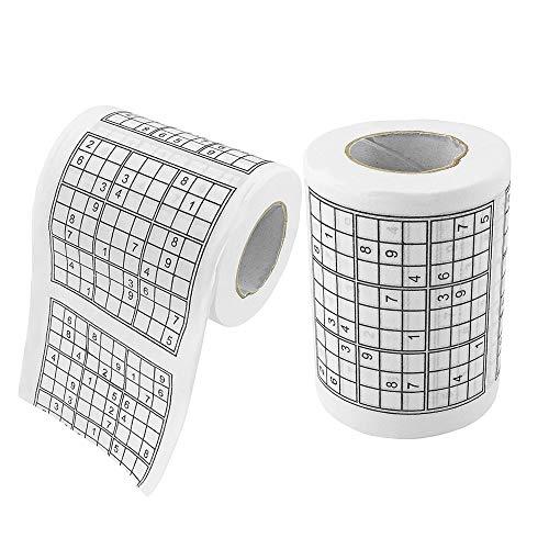 ZYEZI Papel higiénico de la novedad, Fairly Odd Novelties Sudoku juego de puzle papel higiénico servilleta de seda broma diversión fiesta de cumpleaños novedad idea de regalo 2 rollos