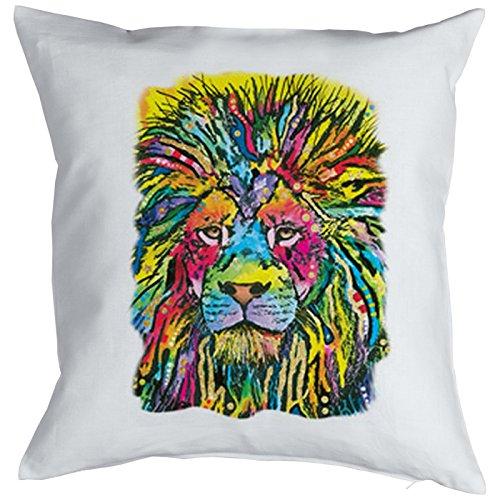 Lion Good Cat Chats Gatti Gatos Coussin, Pop Art Style