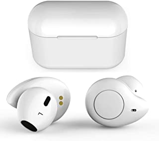 True Wireless Earbuds,Willful T1 Bluetooth 5.0 Earbuds in-Ear Headphones Wireless Earphones (HD Stereo Sound,Clear Call,20H Playtime,2019 Version TWS) with Mic Charging Case for iPhone Android White