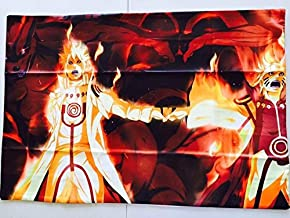 EBTY-Dreams Inc. - Naruto Anime Minato Kurama Nine-Tailed Demon Fox Cloak 20''x30'' Queen Sized Dakimakura Pillow Case