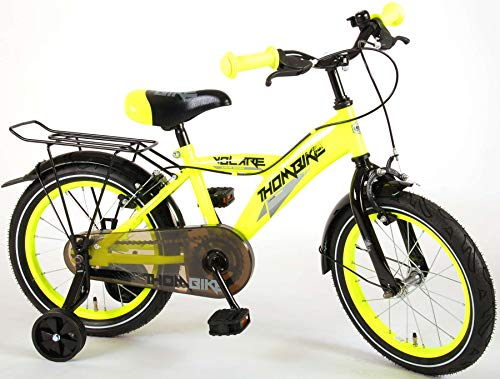 Volare Thombike City Kinderfiets - Jongens - 16 inch - Neon Geel - twee handremmen