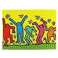 500ピース ジグソーパズル,Keith Haring キース・ヘリング 木製パズル オモチャ 大人 減圧 Puzzles 知育玩具 子供 パズル 脳開発 ストレス解消 贈り物