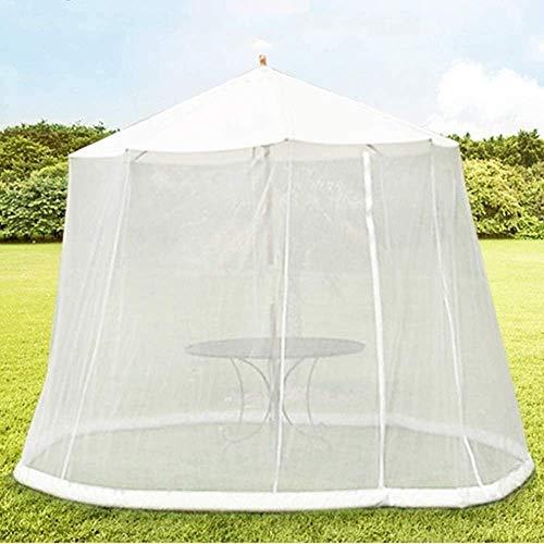 ZHANGYY Paraguas al Aire Libre Jardín al Aire Libre Cubierta de Mosquitos Paraguas Mosquito Pantalla de Mesa de Patio, Sombrilla de Exterior Pantalla de Mesa Parasol Mosquitera