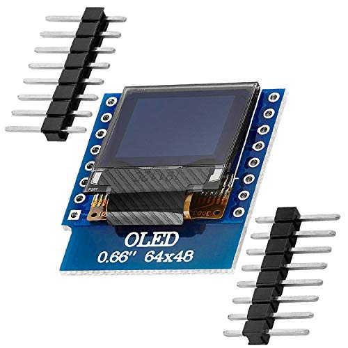 AZDelivery 0.66 Zoll OLED Display Module 64x48 Ecran I2C HW-699 compatible avec D1 Mini incluant un eBook !
