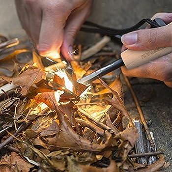 Pierre Allume feu Kit 7 en 1- Etincelles à très Haute température, allumez Rapidement Vos Feux de Camping, cheminé, Barbecue