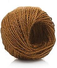 Ficelle de jute tiss/ée r/étro de 2 mm Sipliv 3 cordes de 100 m de corde de chanvre pour d/écoration murale avec cadre photo emballage de cadeaux d/écoration de mariage /étiquette projets de jardinage