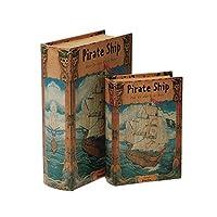 ブック型収納ボックス BOOK BOX 2個セット 28232