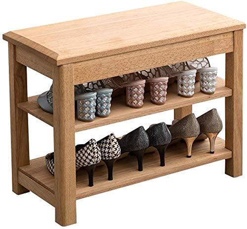 ZouYongKang Simplifique el banco de almacenamiento, el estante de los zapatos, el banco de zapatos de madera con el zapato que cambia el asiento del pasillo de la puerta del taburete para la entrada d