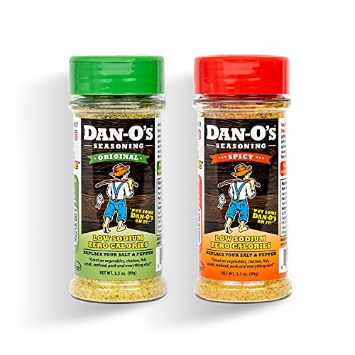 Dan-O s Seasoning Starter Pack - All Natural, Low Sodium, No Sugar, No MSG - Two (2) 3.5 oz Bottles