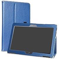 "LiuShan BQ Aquaris M10 Funda, Folio Soporte PU Cuero con Funda Caso para 10.1"" BQ Aquaris M10 Android Tablet,Azul Profundo"