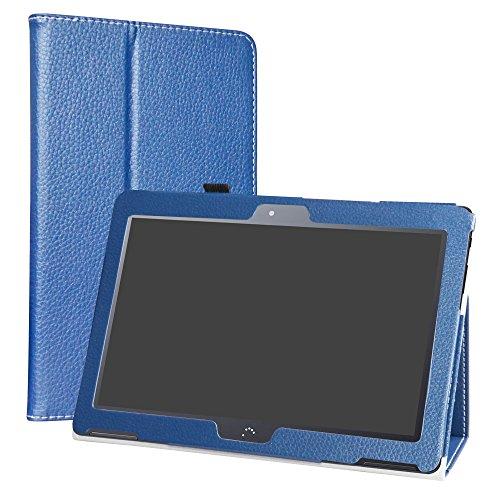 LiuShan BQ Aquaris M10 Funda, Folio Soporte PU Cuero con Funda Caso para 10.1' BQ Aquaris M10 Android Tablet,Azul Profundo
