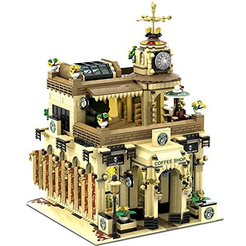 BGOOD Juego de construcción para casa, 3480 bloques de construcción estilo Oriente Medio, café modular con figuras, casas, compatible con Lego Creator Expert