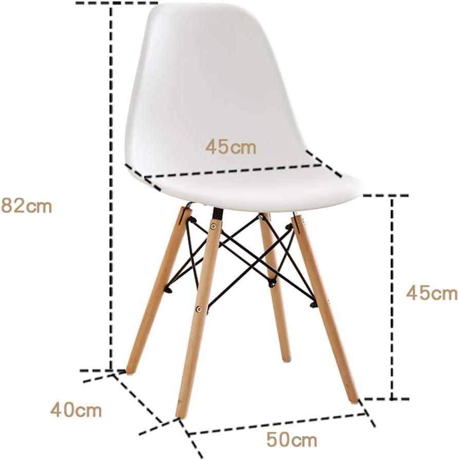 SLL- Chaise de Salle, Chaise de Bureau Simple, créative Dossier, Chaise Loisirs, Maison Adulte Chaise de Salle Moderne (Color : Red) Blue