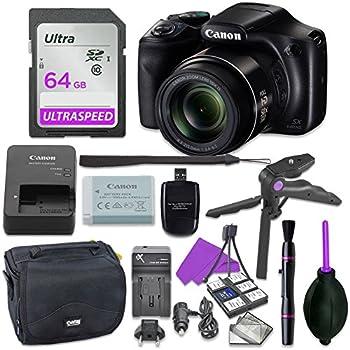 Canon Powershot SX540 Point & Shoot Digital Camera Bundle w/Tripod Hand Grip 64GB SD Memory Case and More