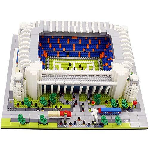 Conjunto de bloques de construcción Modelo del estadio de fútbol de Madrid, mini bloques educativos 3D, juguetes de modelo de construcción de bricolaje para adultos y niños. 065,4575pcs