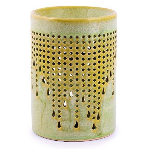 pajoma Duftlampe Elise antik Grün, Keramik, L 9.5 x B 9 x H 12.5 cm