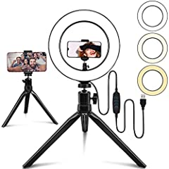 [Widely Application] Belifu selfie ring light is idea for the quality of live streaming, vlogging, selfie photos, videos. Perfect for all knids of close-up photography and filming. Such as fashion, advertisement, portrait, wedding. Ring light also he...