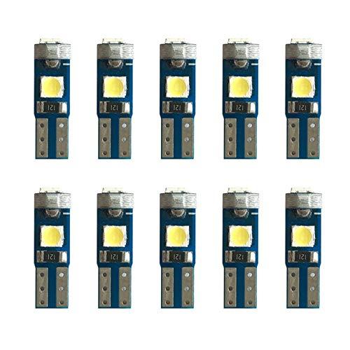 NERR YULUBAIHUO 100x 12V CANBUS T5 58 74 286 W1.2W Super Bright 3030 LED 3SMD Wedge LED LED Dashboard Dashboard Lámpara de Panel de Instrumentos Bombilla (Emitting Color : White)