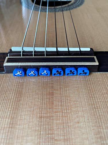 Alba Guitar Beads String Tie Guitar Retenedores de cuerda de nailon para guitarra acústica eléctrica clasica flamenco ukulele azules