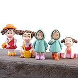 PPuujia Mini-Figuren aus Kunstharz, für Mädchen, zum Basteln, für Feengarten, Gartenzwerge, Moos, Terrarien, Heimdekoration, Großhandel (Farbe: zufällige Form)