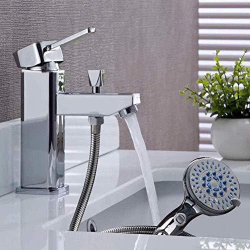 Kraan luxe messing wastafel kraan en koud water mixer kraan met hand douchekop gat CKMK3324