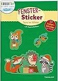 Fenster-Sticker Tiere im Winter: 24 Ausmalseiten und 25 Folien-Sticker