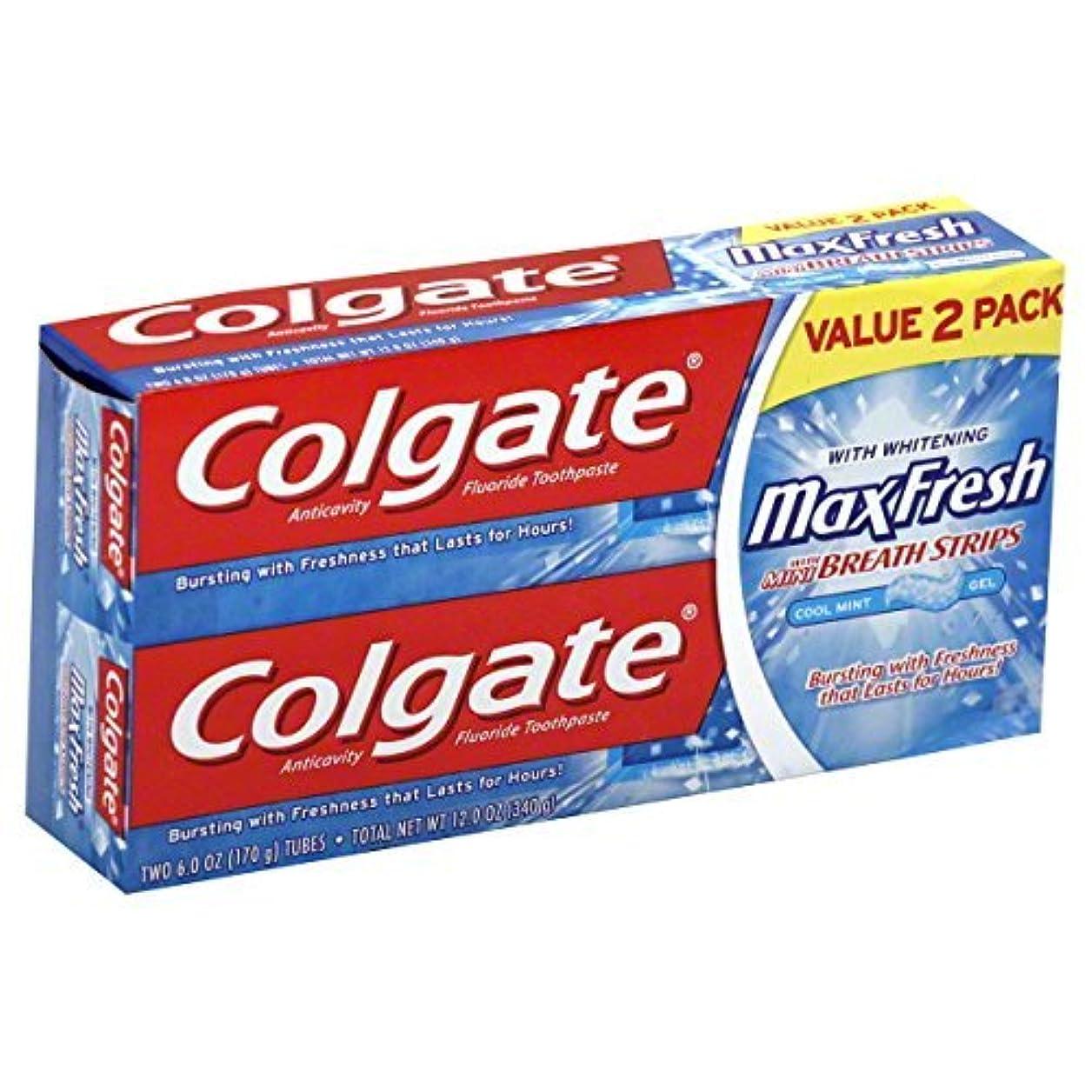 スケートきらめき提供するColgate MaxFresh Fluoride Toothpaste 6 oz Twin Pack Cool Mint 2 ea [並行輸入品]