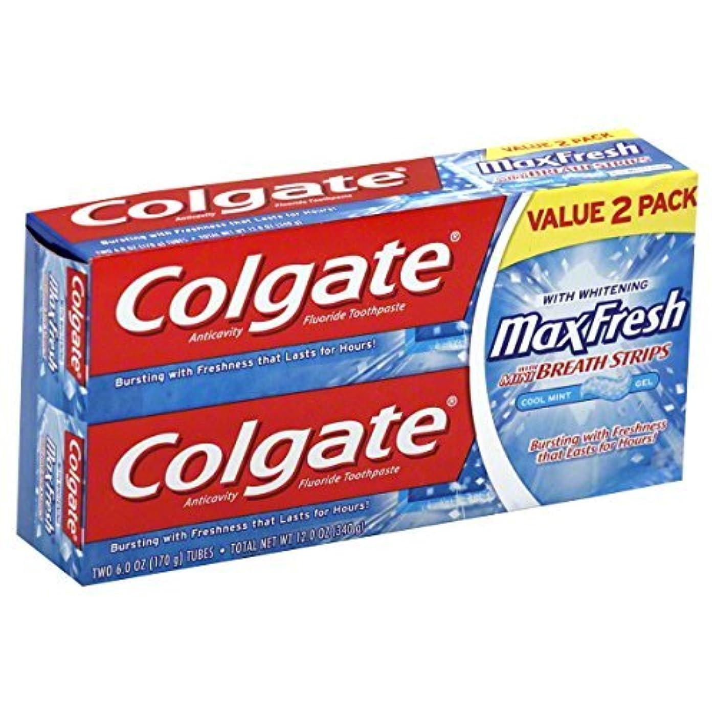 緑ねばねば逃げるColgate MaxFresh Fluoride Toothpaste 6 oz Twin Pack Cool Mint 2 ea [並行輸入品]