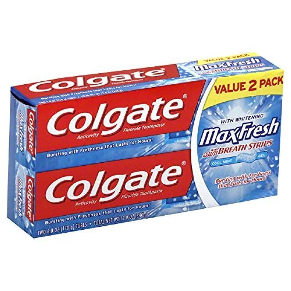 起点ブレンド異邦人Colgate MaxFresh Fluoride Toothpaste 6 oz Twin Pack Cool Mint 2 ea [並行輸入品]