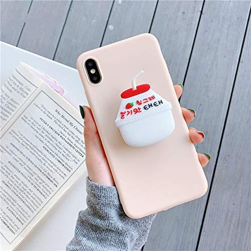 LUOKAOO 3D Cute Cartoo Trinkflasche Cola Soft Phone Hülle für iPhone X XR XS 11 Pro Max 6S 7 8 Plus Halter Abdeckung für Samsung S8 S9 S10, A, für Note 10 Pro