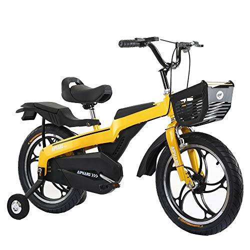 Axdwfd Kids Bike Kids Fiets met Training Wiel, jongens Meisjes 14/16/18 Inch Hoogwaardige Magnesium Legering Kind Fiets met Mand