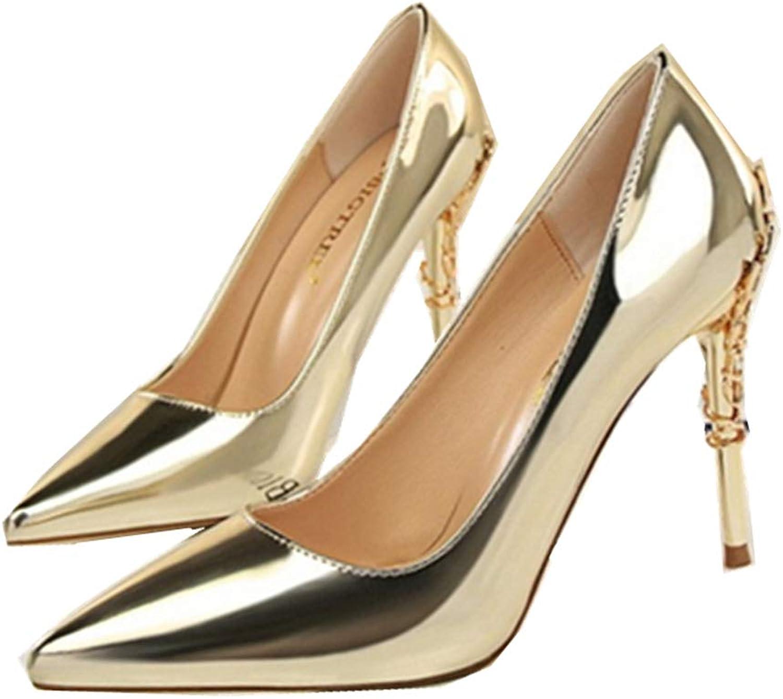 GUJMin Women's Fashion high Heel Pointed shoes Sexy high Heels Elegant Stilettos